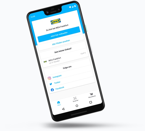 The snabble app for shopping without checkout lines
