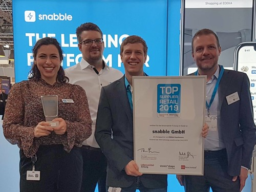 Snabble Wins Top Supplier Retail 2019 Award For Best Customer Experience During EuroCIS